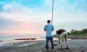 原创 辽宁观赏夕阳坠海最佳处,位于营口,现成游客钟爱的摄影天堂